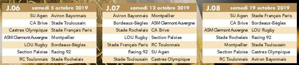 Calendrier Top 14 Saison 2020 2019.Actualite Saison 2019 2020 Le Calendrier Du Top