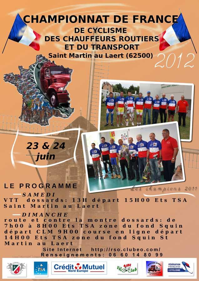 Affiche championnat de France des chauffeur routiers 2012