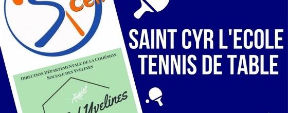 SAINT CYR L'ECOLE TENNIS DE TABLE (SCETT) : site officiel du club de tennis de table de ST CYR L ECOLE - clubeo