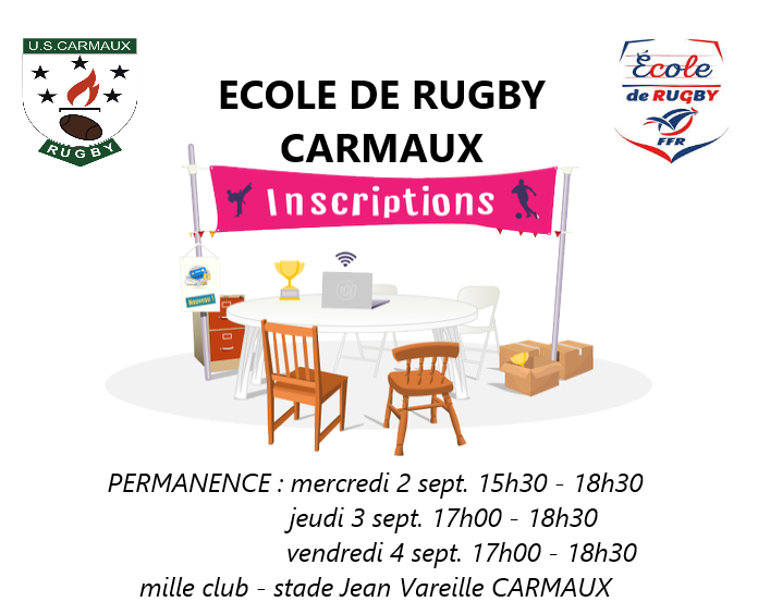 INSCRIPTION ECOLE DE RUGBY 2020/2021