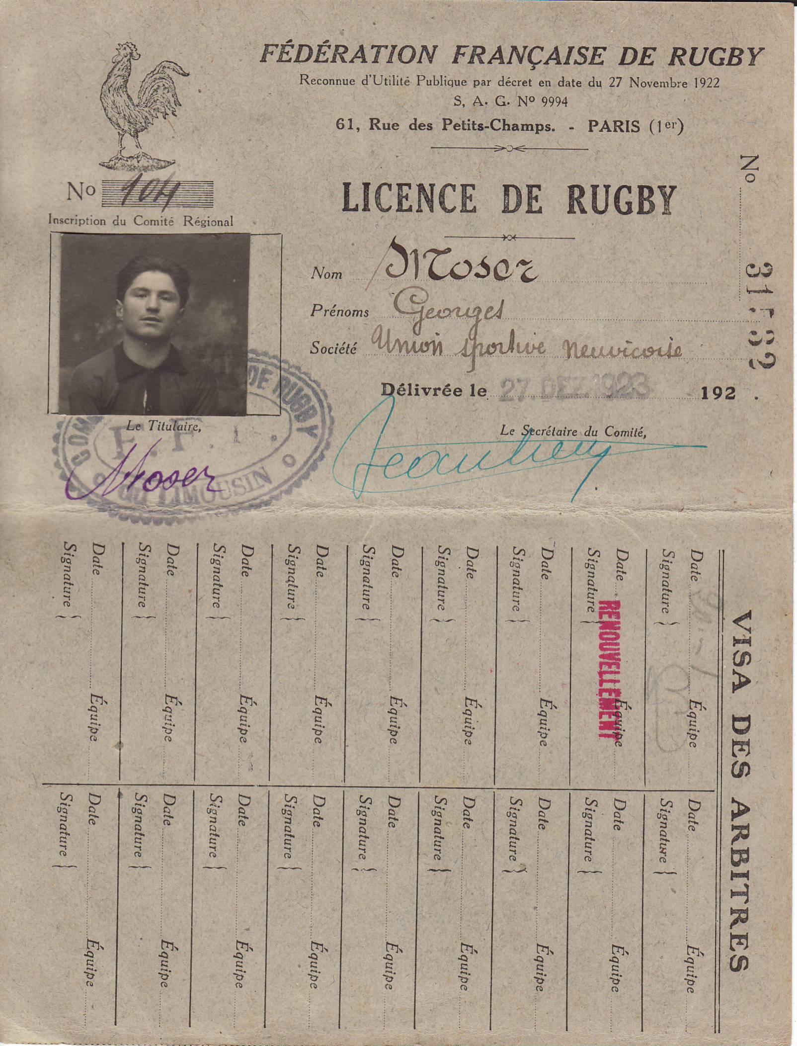 Les premières Licences